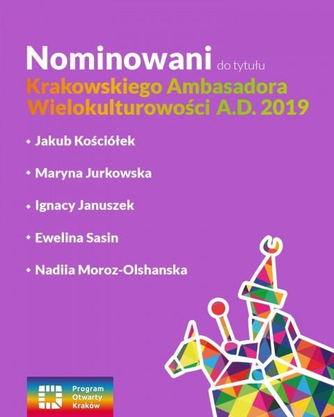 Kolejny rok z nominacją do tytułu Krakowskiego Ambasadora Wielokulturowości
