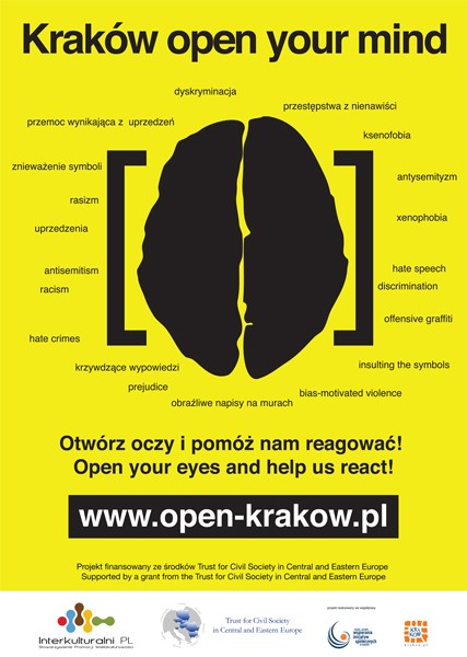 Citizens of Kraków say NO to racism and xenophobia!