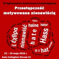 Presentation of our research on Hate Speech in media at Criminology Conference in Krakow