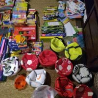 We collected four suitcases of donations for children from Benin